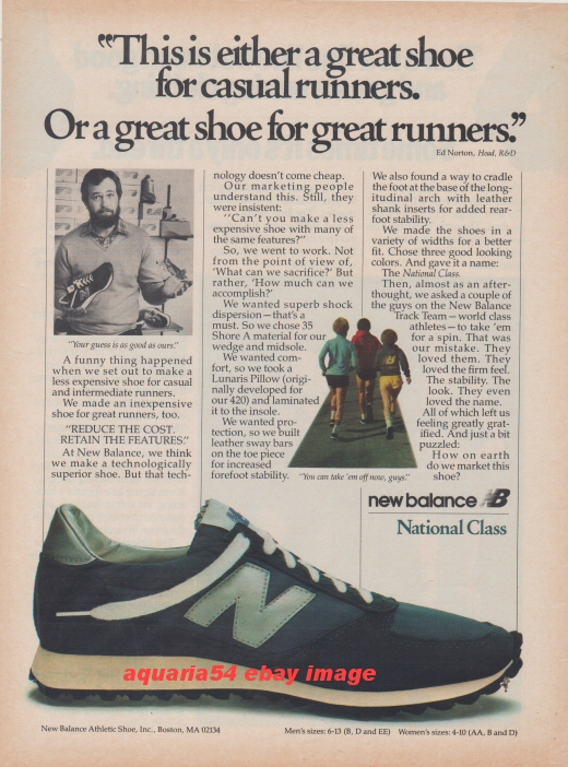 1981 Vintage New Balance NB National Class Running Tennis ...